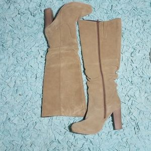 Sole Diva suede knee high boots